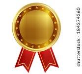 medal ribbon frame   Shutterstock .eps vector #184374260