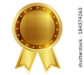 medal ribbon frame | Shutterstock .eps vector #184374263
