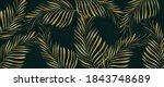 luxury gold palm leaves... | Shutterstock .eps vector #1843748689