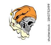 Clown Skull Illustration For...