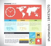 vector infographic template...