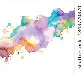 splash of brush shades...   Shutterstock .eps vector #1843770370