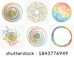 colored scribble elements and... | Shutterstock .eps vector #1843776949