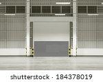 roller shutter door and... | Shutterstock . vector #184378019