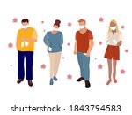 a group of people in medical... | Shutterstock . vector #1843794583