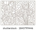 a set of contour illustrations... | Shutterstock .eps vector #1843799446