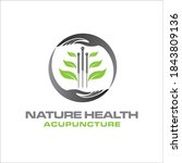 acupuncture care logo designs... | Shutterstock .eps vector #1843809136