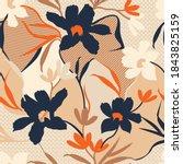 seamless abstract flower... | Shutterstock .eps vector #1843825159