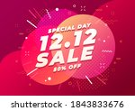 12.12 special shopping day sale ... | Shutterstock .eps vector #1843833676
