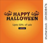 happy halloween banner  sale... | Shutterstock .eps vector #1843838476