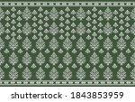 seamless victorian floral... | Shutterstock .eps vector #1843853959