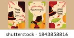 thanksgiving background in flat ...   Shutterstock .eps vector #1843858816