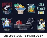 surf vector patch emblem set. a ... | Shutterstock .eps vector #1843880119