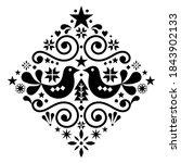 christmas scandinavian floral... | Shutterstock .eps vector #1843902133