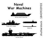 naval war machines. pictogram... | Shutterstock .eps vector #1843933933