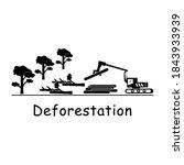 deforestation logging.... | Shutterstock .eps vector #1843933939