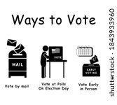 three ways to vote  pictogram... | Shutterstock .eps vector #1843933960