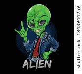 alien rocker wearing spiked...