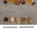 Seeds On Wooden Spoons. Top...