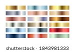 metal chrome gradient color set.... | Shutterstock .eps vector #1843981333