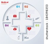 abstract concept of medicine... | Shutterstock .eps vector #184398353