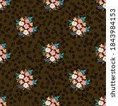 pretty vintage feedsack pattern ...   Shutterstock .eps vector #1843984153