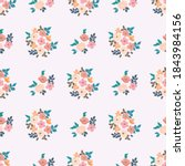 pretty vintage feedsack pattern ...   Shutterstock .eps vector #1843984156