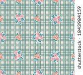 pretty vintage feedsack pattern ...   Shutterstock .eps vector #1843984159