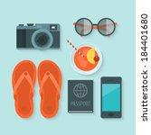 flat design modern vector...   Shutterstock .eps vector #184401680