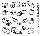 bread set. collection bread... | Shutterstock .eps vector #1844024086