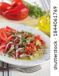 mediterranean salad with baked...   Shutterstock . vector #1844061769