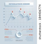 3d paper infographics  chart...