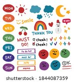 collection of weekly or daily... | Shutterstock .eps vector #1844087359