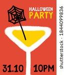 halloween party bash invitation ... | Shutterstock .eps vector #1844099836