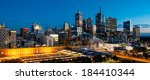 melbourne city skyline at dawn | Shutterstock . vector #184410344