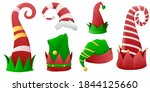 collection of christmas hats... | Shutterstock .eps vector #1844125660