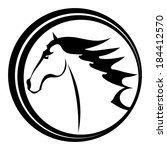 horse tattoo character in a... | Shutterstock .eps vector #184412570