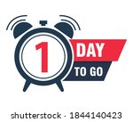 one day to go last countdown... | Shutterstock .eps vector #1844140423