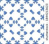 ceramic tiles azulejo portugal. ... | Shutterstock .eps vector #1844213623