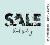 black friday shopping concept.... | Shutterstock .eps vector #1844216959