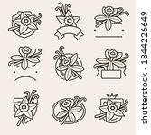 vanilla labels and elements set.... | Shutterstock .eps vector #1844226649