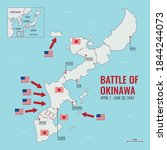 map of battle of okinawa during ... | Shutterstock .eps vector #1844244073