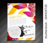 vector event  brochure flyer... | Shutterstock .eps vector #184424720