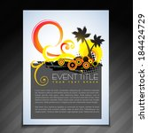 vector summer brochure flyer... | Shutterstock .eps vector #184424729