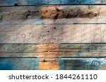 Blue Toned Old Rustic Wooden...