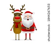 christmas santa claus and... | Shutterstock . vector #1844267653