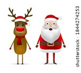 christmas santa claus and... | Shutterstock . vector #1844274253