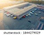 Aerial View Of A Logistics Park ...