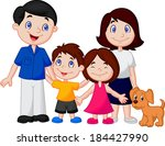 happy family cartoon  | Shutterstock .eps vector #184427990