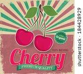 Colorful Vintage Cherry Label...